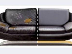 Перетяжка кожаного дивана в Мытищах