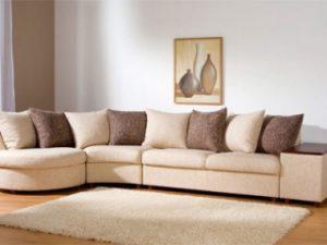 Перетяжка углового дивана на дому в Мытищах